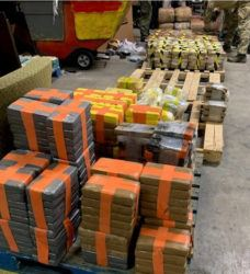 NEW YORK TIMES A photo provided by San Diego Tunnel Task Force/Department of Homeland Security showed a large haul of drugs that were seized in a cross-border tunnel that the authorities said ran drugs from warehouses in Tijuana, Mexico, to San Diego.