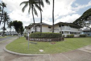 CINDY ELLEN RUSSELL / CRUSSELL@STARADVERTISER.COM                                 City officials reported a case of COVID-19 at the 150-unit West Loch Elderly Village in Ewa Beach for low-income seniors. The person who tested positive was not a resident.