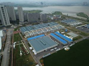 ASSOCIATED PRESS                                 Leishenshan Hospital was constructed in a parking lot from prefabricated modules in two weeks in Wuhan, China.