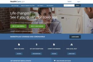 U.S. CENTERS FOR MEDICARE & MEDICAID SERVICE VIA ASSOCIATED PRESS                                 The website for HealthCare.gov is seen. The financial conditions of the government's two biggest benefits programs remain shaky, with Medicare projected to become insolvent in six years and Social Security on track to no longer be able to pay full benefits starting in 2035.
