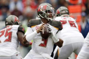ASSOCIATED PRESS                                 Tampa Bay Buccaneers quarterback Jameis Winston (3) passes against the Tennessee Titans during an NFL football game in Nashville, Tenn., last year. A person familiar with the situation says the Saints and Winston are working on a contract proposal to make the former Buccaneers starter a backup to Drew Brees in New Orleans.