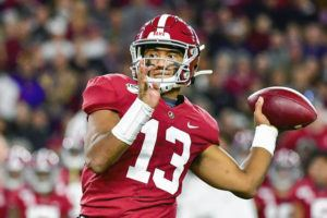 ASSOCIATED PRESS                                 Alabama quarterback Tua Tagovailoa plays in a game on Nov. 9.