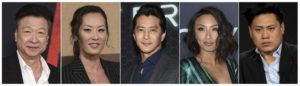 ASSOCIATED PRESS                                 This combination photo shows Asian American actors, from left, Tzi Ma, Olivia Cheng, Will Yun Lee, Jeannie Mai and Jon M. Chu. As people across the world shelter in place due to the breakout of COVID-19, some people of Asian descent are worried about what happens when they have to leave the safety of their homes, due to the rise in hate crimes due to the growth of the virus, which is believed to have originated in Wuhan, China.