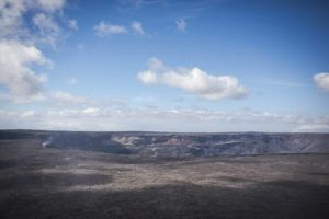 RONIT FAHL / SPECIAL TO THE STAR-ADVERTISER / SEPT. 22, 2018                                 The caldera at Hawaii Volcanoes National Park is seen on its re-opening day after being closed for an 134 days due to the 2018 eruption of Kilauea volcano at Hawaii Volcanoes National Park in Volcano.