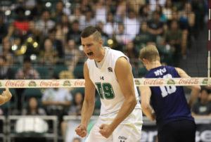 STAR-ADVERTISER / MARCH 5                                 Hawaii opposite Rado Parapunov became Hawaii men's volleyball's first conference player of the year since 2003.