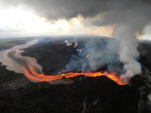 COURTESY U.S. GEOLOGICAL SURVEY                                 Lava flows from Kilauea Volcano on July 29, 2018.