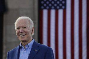 ASSOCIATED PRESS / MARCH 7 Former Vice President Joe Biden acknowledges the crowd during a campaign rally in Kansas City, Mo.