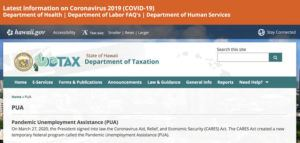 """COURTESY PHOTO                                 Anyone in Hawaii who plans to apply for Pandemic Unemployment Assistance should first read the tutorial at <a href=""""http://tax.hawaii.gov/PUA"""" target=""""_blank"""">tax.hawaii.gov/PUA</a>, which explains how to fill out the application step by step."""