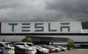ASSOCIATED PRESS                                 The Tesla plant in Fremont, Calif., reopened Monday.