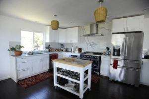 STAR-ADVERTISER View of the kitchen in a vacation rental home in Portlock.