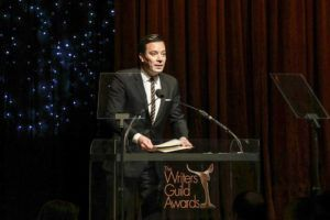 NEW YORK TIMES / FEBRUARY 1                                 Jimmy Fallon at the 72nd Annual Writers Guild Awards at the Edison Ballroom in New York.