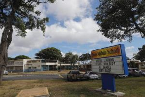 JAMM AQUINO / SEPT. 8                                 Dole Middle School is pictured.