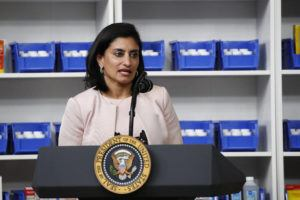 ASSOCIATED PRESS                                 The administrator of the Centers for Medicare and Medicaid Services Seema Verma spoke during a July 24 event with President Donald Trump to sign executive orders on lowering drug prices, in the South Court Auditorium in the White House complex in Washington. Private consultants to the federal official who oversees Medicare billed taxpayers almost $6 million in less than two years to bolster her personal image, including efforts to win awards, place her on lists of powerful women and arrange meetings with influential people, a report by congressional Democrats said Thursday.