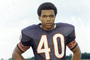 ASSOCIATED PRESS                                 This is a 1970 file photo showing Chicago Bears football player Gale Sayers. Hall of Famer Gale Sayers, who made his mark as one of the NFL's best all-purpose running backs and was later celebrated for his enduring friendship with a Chicago Bears teammate with cancer, has died. He was 77.