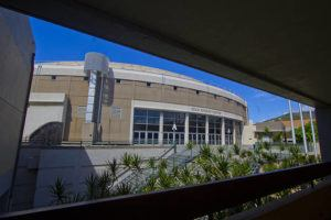 STAR-ADVERTISER / 2015                                 This is the exterior of the Stan Sheriff Center on the UH lower campus.
