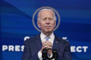 ASSOCIATED PRESS President-elect Joe Biden speaks at The Queen theater in Wilmington, Del., Wednesday.