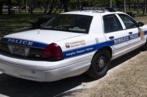 CINDY ELLEN RUSSELL / 2020 A Honolulu Police Department patrol car.