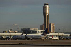 ASSOCIATED PRESS                                 A plane takes off at McCarran International airport in Las Vegas last year.