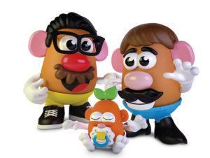HASBRO VIA ASSOCIATED PRESS                                 The new Potato Head world. Mr. Potato Head is no longer a mister. Hasbro, the company that makes the potato-shaped plastic toy, is giving the spud a gender-neutral new name: Potato Head.