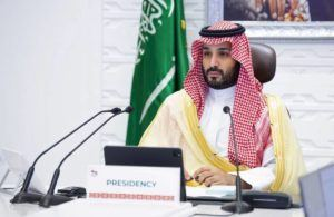 BANDAR ALJALOUD/SAUDI ROYAL PALACE VIA ASSOCIATED PRESS                                 Saudi Arabia's Crown Prince Mohammed bin Salman attended a virtual G-20 summit, Nov. 22, held via video conferencing, in Riyadh, Saudi Arabia. Salman signed off on the killing of Washington Post columnist Jamal Khashoggi, according to a U.S. intelligence report released today.