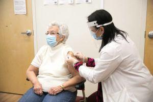 SCOTT EISEN/CVS HEALTH VIA ASSOCIATED PRESS                                 CVS Pharmacy began administering COVID-19 vaccines on Jan. 28 in Fall River, Mass.