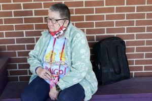 ASSOCIATED PRESS                                 Pat Brown waited outside the Don Bosco Senior Center in Kansas City, Mo., Wednesday. Brown knew she needs the vaccine because her asthma and diabetes put her at higher risk of serious COVID-19 complications.