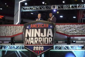 """COURTESY NBC                                 Hosts Matt Iseman, left, and Akbar Gbajabiamila on the set of """"American Ninja Warrior."""" Young TV viewers may be getting the message that fame is less important than values like achievement and a sense of community. That's according to a new study from the University of California, Los Angeles. In examining the TV shows most popular with children ages 8 to 12, knowns as """"tweens,"""" researchers found that the emphasis on fame diminished in 2017."""