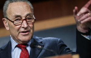 ASSOCIATED PRESS                                 Senate Majority Leader Chuck Schumer of New York, holds a news conference today on Capitol Hill.