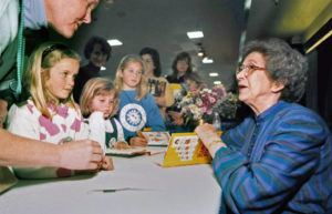 ASSOCIATED PRESS / 1998                                 Beverly Cleary signs books at the Monterey Bay Book Festival in Monterey, Calif.