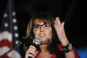 ASSOCIATED PRESS / 2017                                 Former vice presidential candidate Sarah Palin speaks at a rally in Montgomery, Ala.