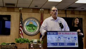 COURTESY COLIN MENDOZA                                 Maui Mayor Michael Victorino.