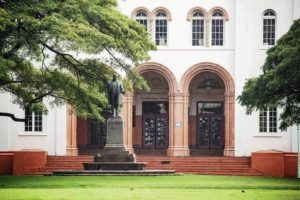 CINDY ELLEN RUSSELL / CRUSSELL@STARADVERTISER.COM                                  Lawmakers have introduced a resolution to rename President William McKinley High School and remove his statue from the school's campus.