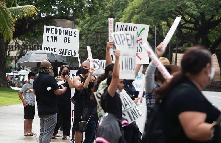 Wedding industry rally seeks Oahu reopening