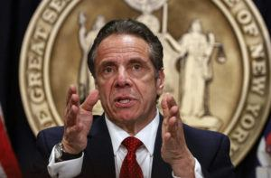 COURTESY REUTERS                                 New York Governor Andrew Cuomo speaks during a news conference at his offices in New York City on Wednesday.
