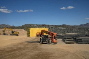 NEW YORK TIMES / FEBRUARY 11                                 The border wall construction site in Guadalupe Canyon, where wall construction has been suspended, in southeast Arizona.