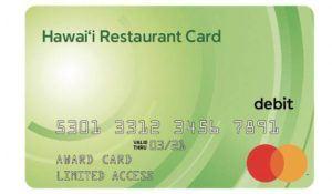 The Hawaii Restaurant Card — Business Holiday Card.