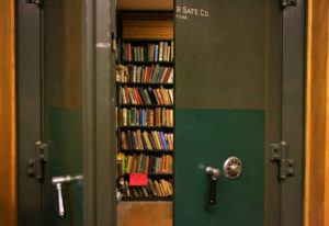 """NEW YORK TIMES / 2009                                 A room at the Brooklyn Public Library where rare children's books are kept, including """"Tintin in the Congo"""" after a patron complained that the book was racially offensive."""