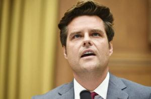 MANDEL NGAN/POOL VIA ASSOCIATED PRESS                                 Rep. Matt Gaetz, R-Fla., spoke, July 29, during a House Judiciary subcommittee hearing on antitrust on Capitol Hill in Washington. Federal prosecutors are examining whether Gaetz and a political ally, who is facing sex trafficking allegations, may have paid underage girls or offered them gifts in exchange for sex, two people familiar with the matter told The Associated Press today.