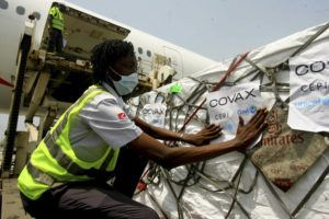 ASSOCIATED PRESS / FEBRUARY 25                                 A shipment of COVID-19 vaccines distributed by the COVAX global initiative arrives in Abidjan, Ivory Coast.