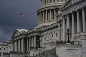 ASSOCIATED PRESS / 2020                                 Dark clouds and heavy rain sweep over the U.S. Capitol in Washington.