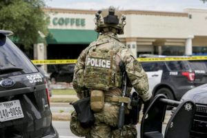 ASSOCIATED PRESS                                 Austin police, SWAT and medical personnel respond to an active shooter situation located Great Hills Trail in Northwest Austin, Texas, today. Emergency responders say several people have been fatally shot in Austin and that no suspect is in custody.