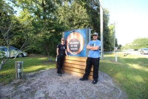 HANNAH ALBERT VIA ASSOCIATED PRESS                                 Steve Klatt, left, and Brandon Lapp, owners of Braised in the South, a Johns Island, S.C, restaurant and food truck business, posed for a photo Sept. 23. Klatt and Lapp are having trouble finding workers during the pandemic.