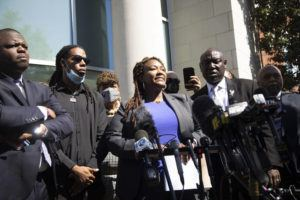 TRAVIS LONG/THE NEWS & OBSERVER VIA ASSOCIATED PRESS                                 Attorney Chantel Cherry-Lassiter spoke outside the Pasquotank County Public Safety building in Elizabeth City, N.C., Monday, after viewing 20 seconds of police body camera video.