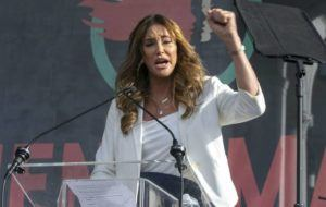 ASSOCIATED PRESS                                 Caitlyn Jenner spoke at the 4th Women's March, in Jan. 2020, in Los Angeles. Jenner has been an Olympic hero, a reality TV personality and a transgender rights activist. Jenner has been consulting privately with Republican advisers as she considers joining the field of candidates seeking to replace Democratic Gov. Gavin Newsom in a likely recall election later this year.