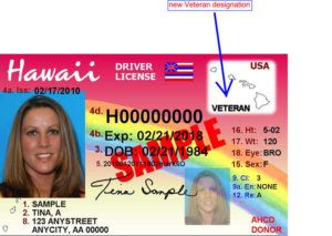 HAWAII DEPARTMENT OF TRANSPORTATION / 2014                                 A sample Hawaii state driver's license.