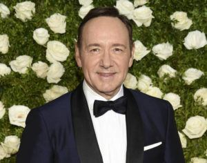 EVAN AGOSTINI/INVISION/ASSOCIATED PRESS                                 Kevin Spacey arrived at the 71st annual Tony Awards, in June 2017, at Radio City Music Hall in New York. A man accusing Oscar-winning actor Kevin Spacey of sexually abusing him in the 1980s when he was 14 cannot proceed anonymously in court, a judge ruled today.