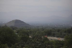ASSOCIATED PRESS                                 Construction of a private building project is seen on the outskirts of Teotihuacan, just north of Mexico City, Wednesday.