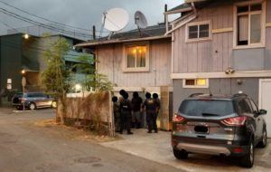 HONOLULU POLICE DEPARTMENT                                 Officers of the District 5 Crime Reduction Unit executed a search warrant at a Kalihi game room Wednesday sometime before 7:15 p.m.