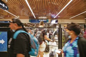 CINDY ELLEN RUSSELL / CRUSSELL@STARADVERTISER.COM                                 The Centers for Disease Control and Prevention and the State Department warned Monday to avoid going to Japan. Above, travelers queued up at a security check point Monday at Daniel K. Inouye International Airport.