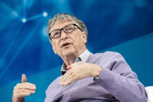 JEENAH MOON/THE NEW YORK TIMES                                 Bill Gates spoke at a conference in New York in Nov. 2019. Bill and Melinda Gates announced today that they are divorcing.